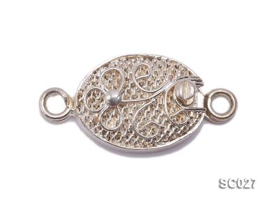 9*12mm Delicate Single-strand Sterling Silver Clasp SC027 Image 1