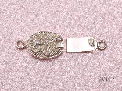 9*12mm Delicate Single-strand Sterling Silver Clasp SC027 Image 3