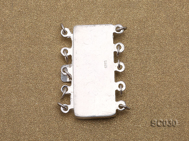 12*25mm Vintage Five-strand Sterling Silver Clasp big Image 2