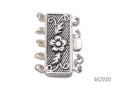 12*25mm Vintage Five-strand Sterling Silver Clasp SC030 Image 1