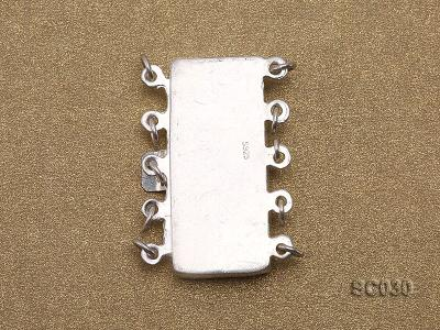12*25mm Vintage Five-strand Sterling Silver Clasp SC030 Image 2