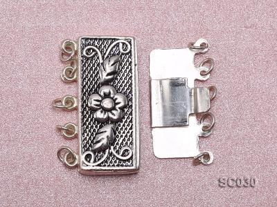 12*25mm Vintage Five-strand Sterling Silver Clasp SC030 Image 3