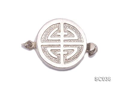 15.5mm Single-strand Sterling Silver Clasp SC038 Image 1