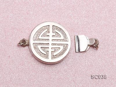 15.5mm Single-strand Sterling Silver Clasp SC038 Image 3