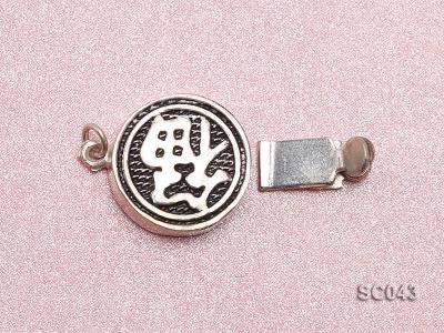 12.5mm Single-strand Sterling Silver Clasp SC043 Image 3