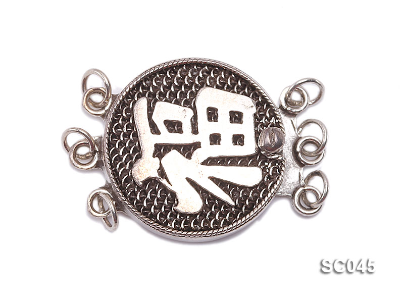 16.7mm Three-strand Sterling Silver Clasp big Image 1