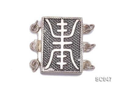 12*17mm Three-strand Sterling Silver Clasp SC047 Image 1