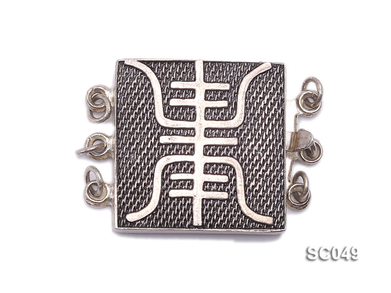 18mm Three-strand Sterling Silver Clasp big Image 1