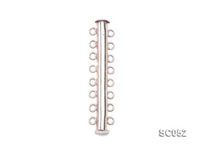 3.8mm Eight-strand Magnetic Sterling Silver Bar Clasp SC052 Image 1