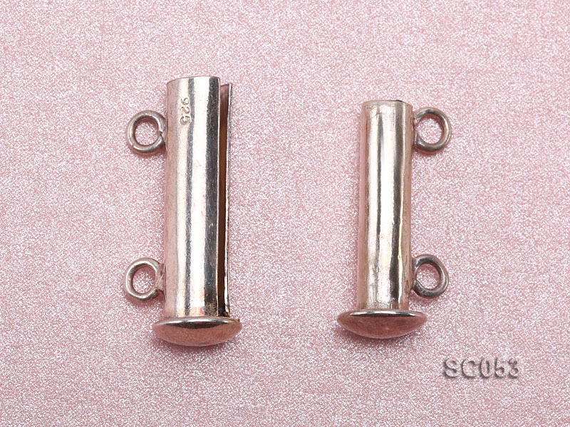 19mm Double-strand Magnetic Sterling Silver Bar Clasp big Image 3
