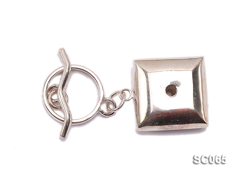 20mm Single-strand Sterling Silver Toggle Clasp big Image 1