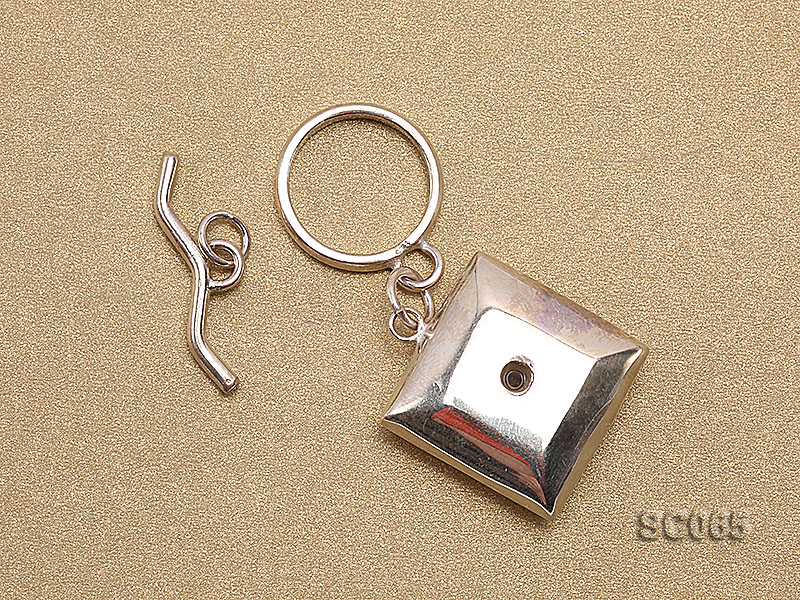 20mm Single-strand Sterling Silver Toggle Clasp big Image 2