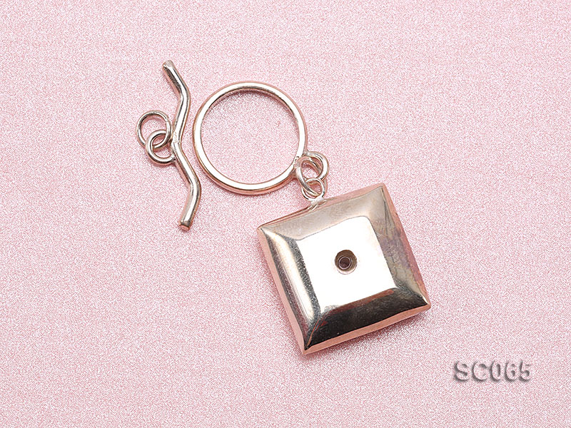 20mm Single-strand Sterling Silver Toggle Clasp big Image 3