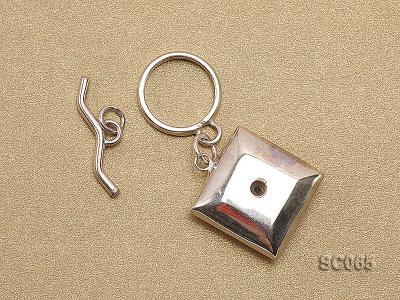 20mm Single-strand Sterling Silver Toggle Clasp SC065 Image 2