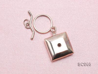 20mm Single-strand Sterling Silver Toggle Clasp SC065 Image 3