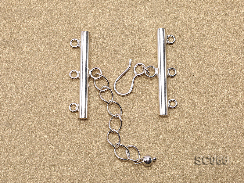 31mm Three-strand Sterling Silver Clasp big Image 2