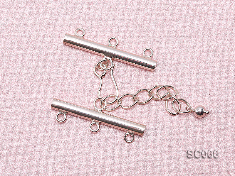 31mm Three-strand Sterling Silver Clasp big Image 3