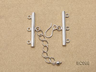 31mm Three-strand Sterling Silver Clasp SC066 Image 2