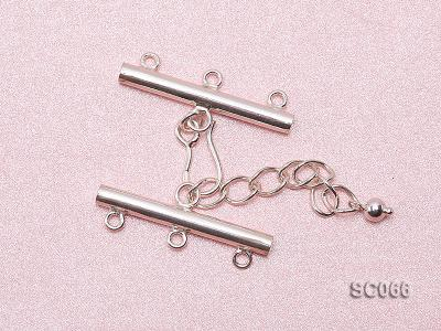 31mm Three-strand Sterling Silver Clasp SC066 Image 3