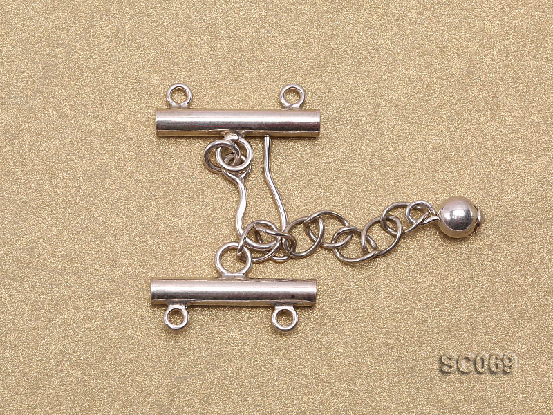 21mm Double-strand Sterling Silver Clasp big Image 2