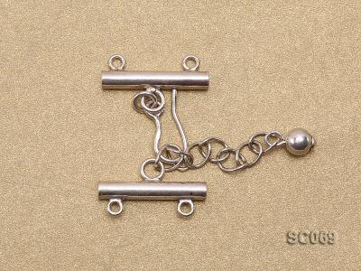 21mm Double-strand Sterling Silver Clasp SC069 Image 2