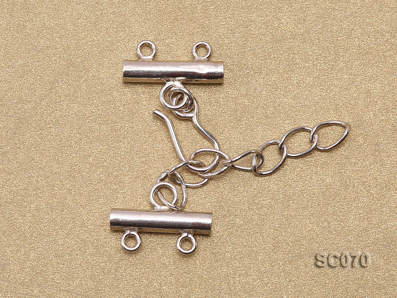 16mm Double-strand Sterling Silver Clasp big Image 2