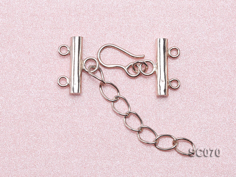 16mm Double-strand Sterling Silver Clasp big Image 3