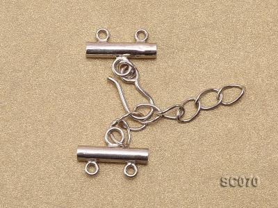 16mm Double-strand Sterling Silver Clasp SC070 Image 2