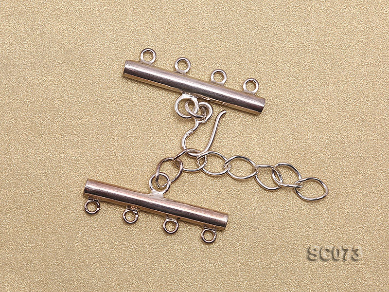 30mm Four-strand Sterling Silver Clasp big Image 2