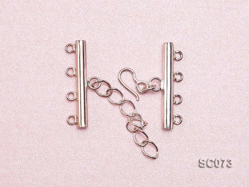 30mm Four-strand Sterling Silver Clasp big Image 3
