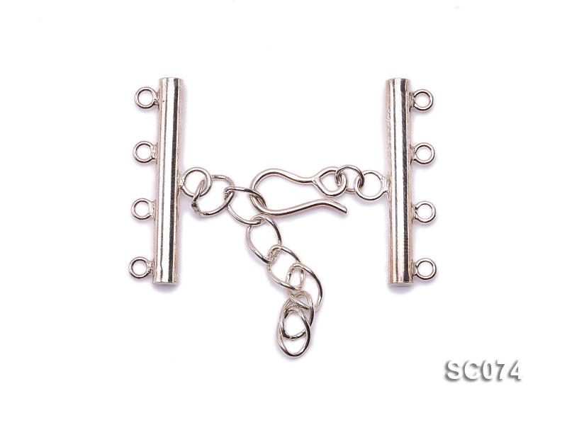 28mm Four-strand Sterling Silver Clasp big Image 1