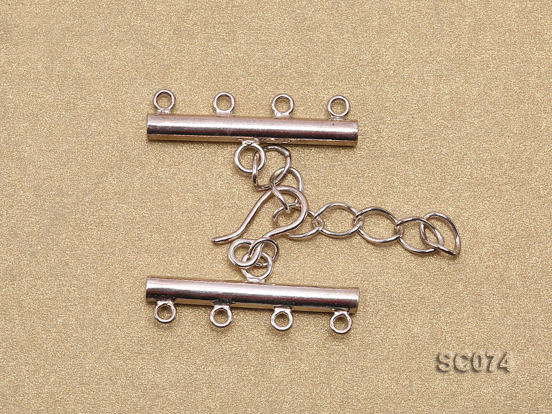 28mm Four-strand Sterling Silver Clasp big Image 2
