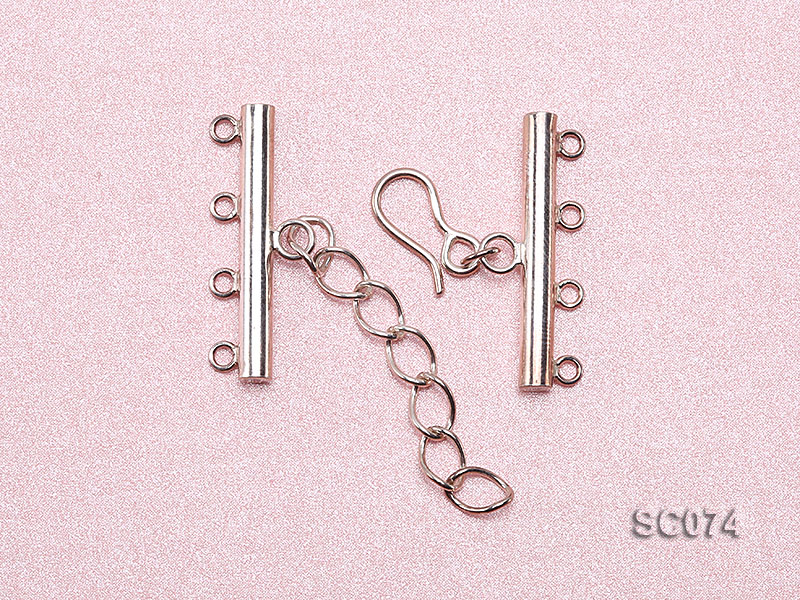 28mm Four-strand Sterling Silver Clasp big Image 3