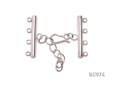28mm Four-strand Sterling Silver Clasp SC074 Image 1
