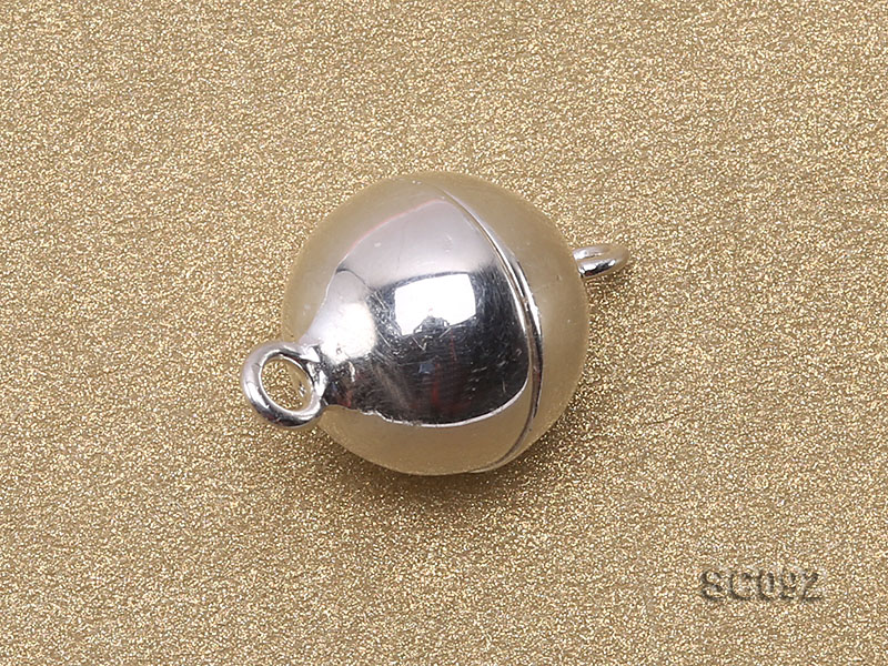 10mm Single-strand Magnetic Sterling Silver Ball Clasp big Image 2