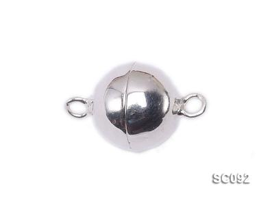 10mm Single-strand Magnetic Sterling Silver Ball Clasp SC092 Image 1
