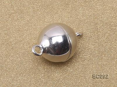 10mm Single-strand Magnetic Sterling Silver Ball Clasp SC092 Image 2