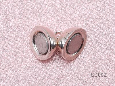10mm Single-strand Magnetic Sterling Silver Ball Clasp SC092 Image 3