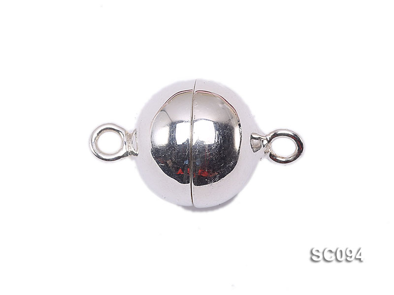 12mm Single-strand Magnetic Sterling Silver Ball Clasp big Image 1