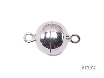 12mm Single-strand Magnetic Sterling Silver Ball Clasp SC094 Image 1