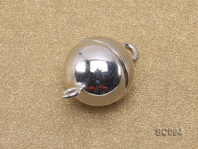 12mm Single-strand Magnetic Sterling Silver Ball Clasp SC094 Image 2