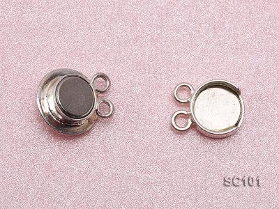 11mm Double-strand Magnetic Sterling Silver Clasp SC101 Image 3