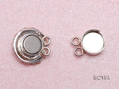 13.5mm Double-strand Magnetic Sterling Silver Clasp SC104 Image 3
