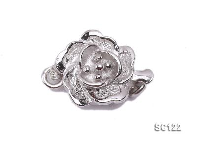9.5mm Single-strand Flower-shaped Sterling Silver Clasp SC122 Image 1