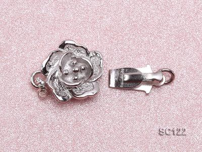 9.5mm Single-strand Flower-shaped Sterling Silver Clasp SC122 Image 3