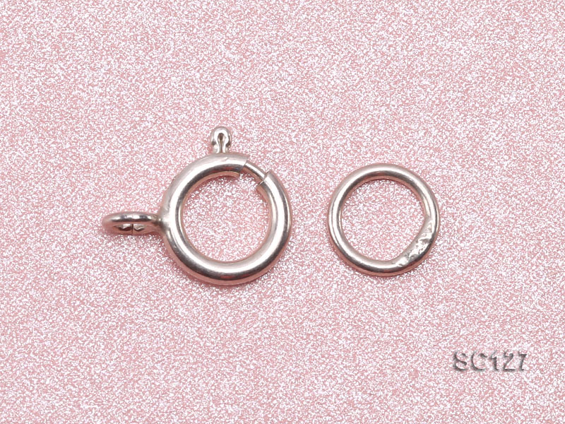6mm Single-strand Sterling Silver Ring Clasp big Image 3