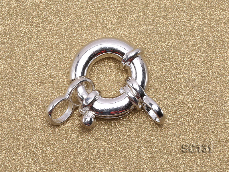 13mm Single-strand Sterling Silver Clasp big Image 2
