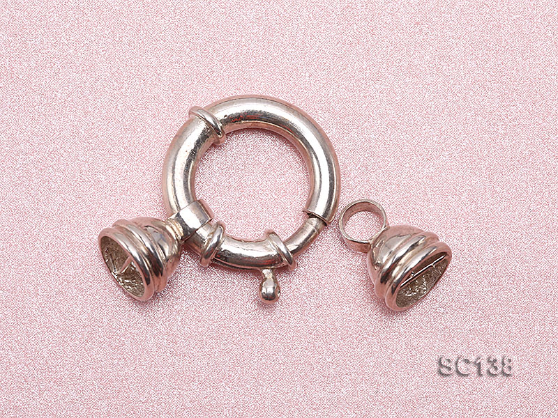 20mm Single-strand Sterling Silver Clasp big Image 3