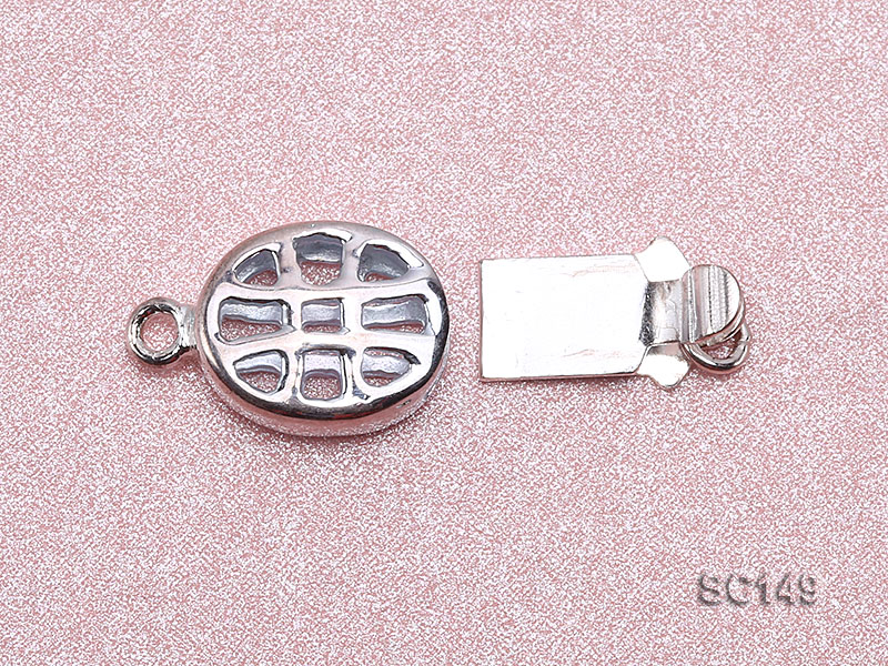 8.5*11mm Single-strand Sterling Silver Clasp big Image 2