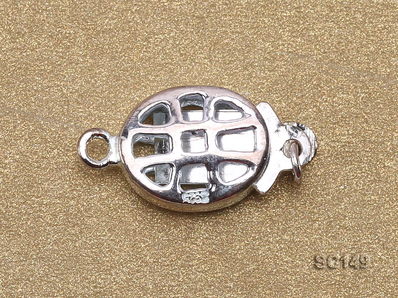 8.5*11mm Single-strand Sterling Silver Clasp big Image 3